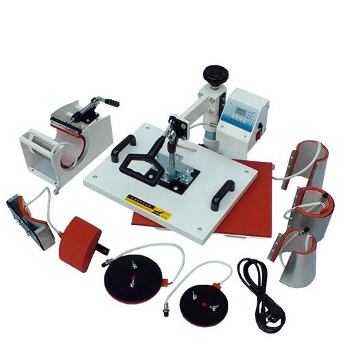 kit sublimação prensa termica 8x1 + impressora l120 + papel