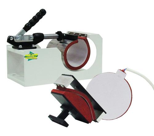 kit sublimação prensa térmica plana combo 4x1 + impressora