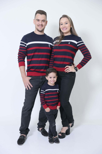 kit suéter família 3 peças