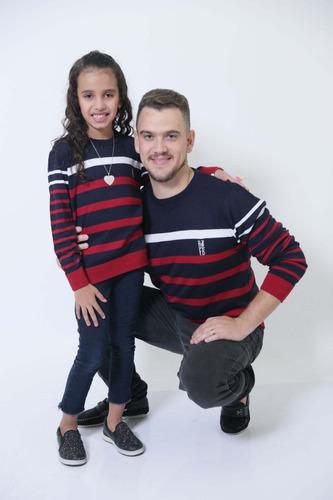 kit suéter tal pai tal filha