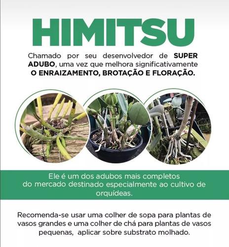 kit super adubo orquideas himitsu original + 8 porta adubos