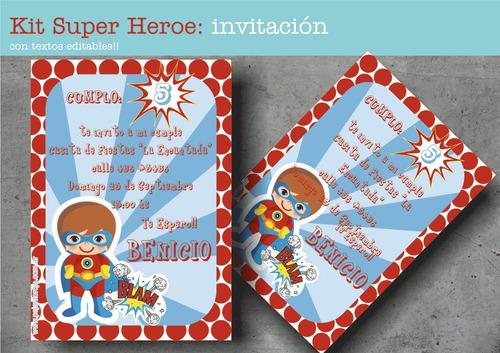 kit super heroe