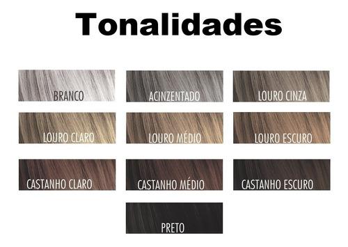 kit super instant hair castanho escuro - colorific 220ml