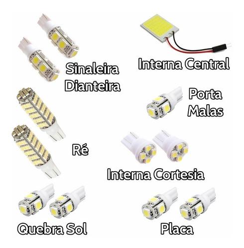 kit super led corolla 2009 até 2014 lâmpada luz branca xenon