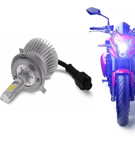 kit super led moto h4 cree  alto e baixo farol led = xenon