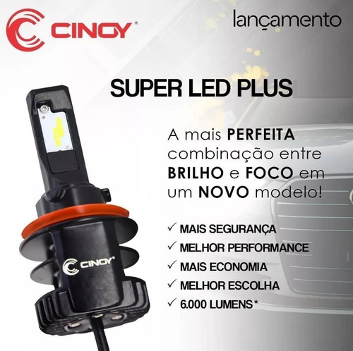 kit super led plus ultra cinoy 12000 lumens 12v 24v h1 h3 h7 h11 hb3 hb4