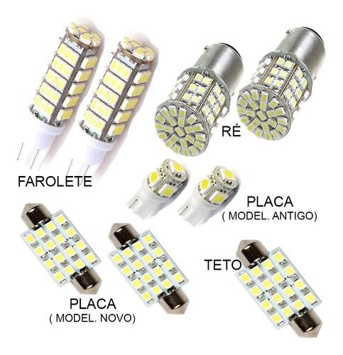 kit super leds palio pingo teto placa luz ré xenon torpedo