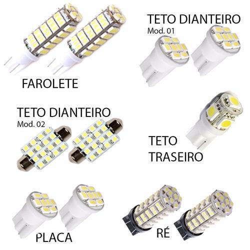 kit super lâmpadas led crv 2013 2014 17 pingo teto placa ré