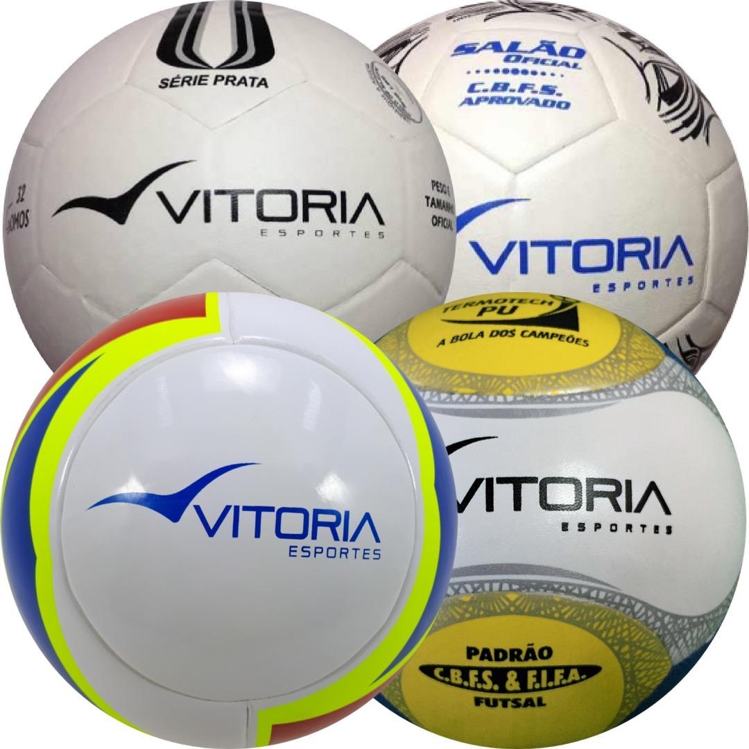 3b05be1f3c2cd Kit Super Teste Futsal 4 Bolas Vitoria Esportes Oficiais - R  279