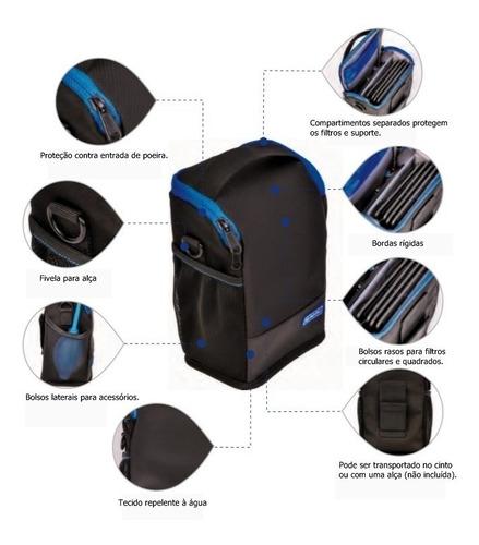 kit suporte de filtro 100mm benro fh100m2k0 + cpl + estojo