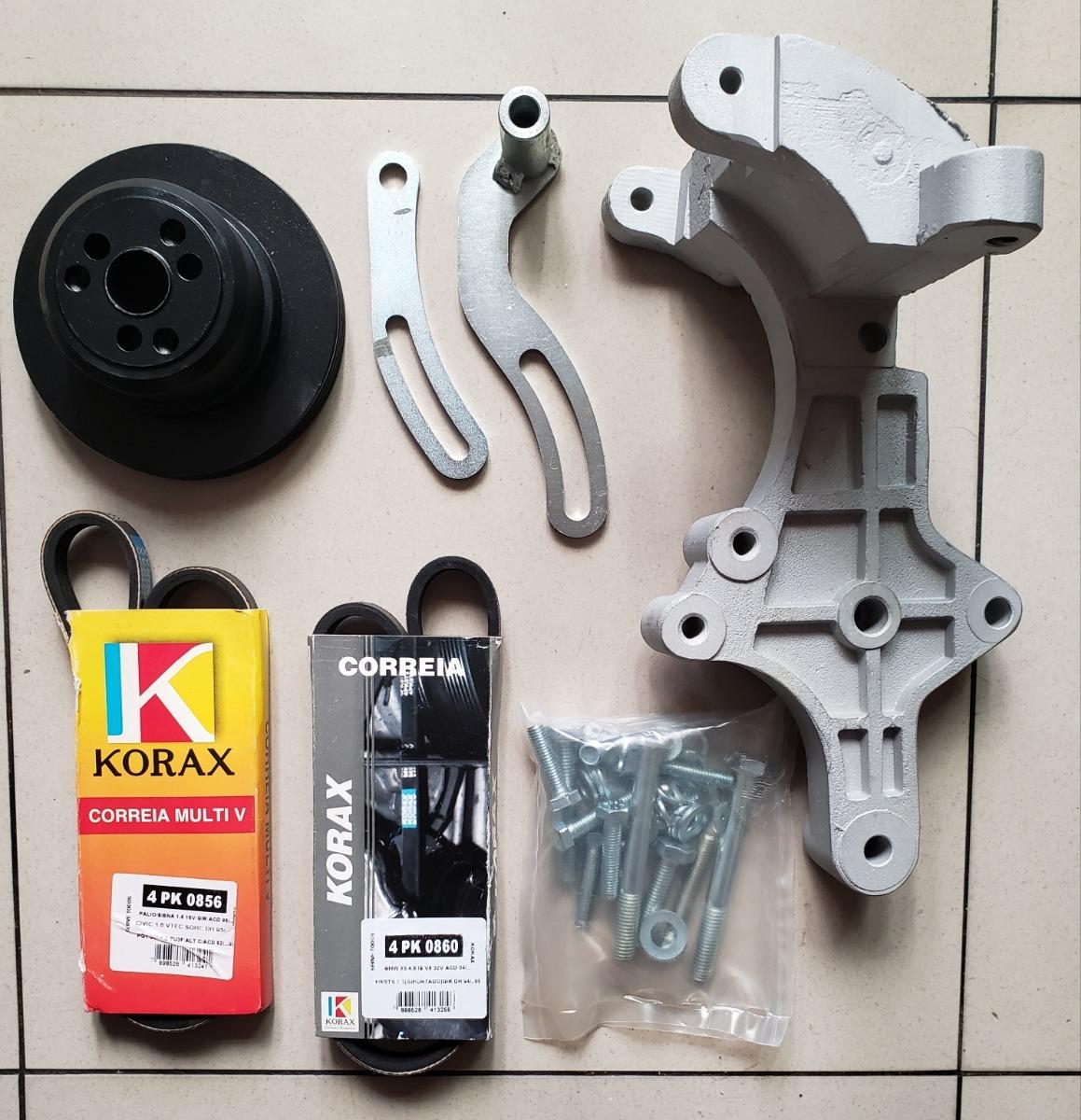 Kit Suporte Para Compressor Sd7b10 Polia Idea Palio Uno Fire