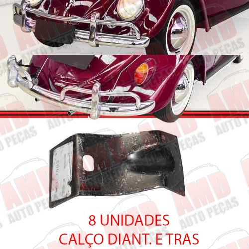 kit suporte tubo calco parachoque dt + tr fusca 1200 59 70