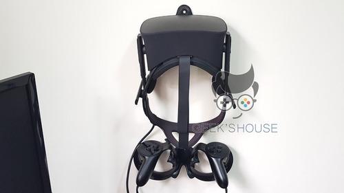 kit suportes adaptador parede para cont. touch e oculus rift