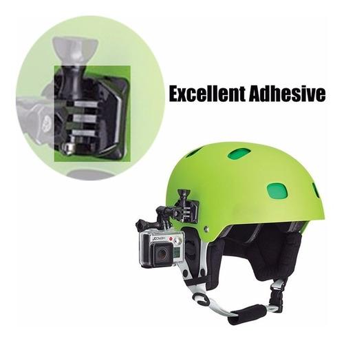kit suportes c/ adesivos go pro gopro hero 1 2 3 4 5 - 8pcs