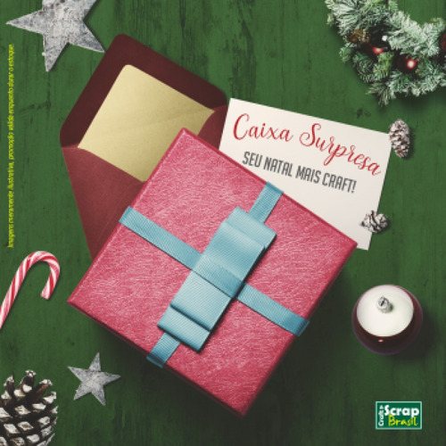 kit surpresa de natal - craft & scrap brasil