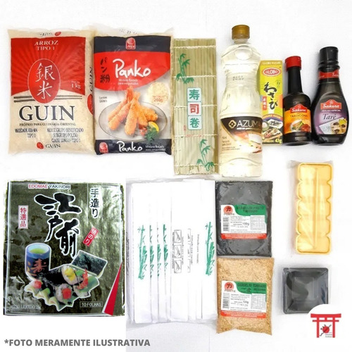 kit sushi / hot roll 4 - completo sem barco