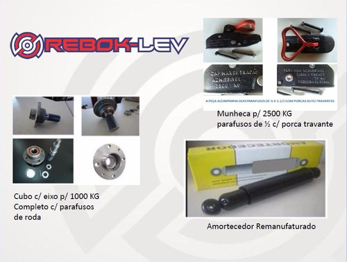 kit suspensão de carretinhas reboque p/ 750 kg