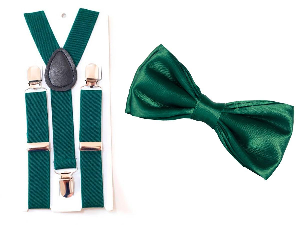 kit suspensório + gravata borboleta adulto verde exercito. Carregando zoom. 1105c22a3ab
