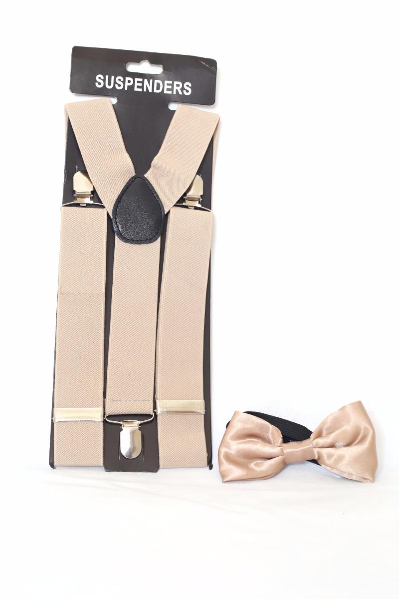 kit suspensório + gravata borboleta infantil creme. Carregando zoom. e4a9842b8e9