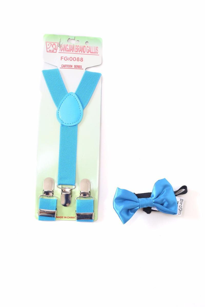 7b38d0a9c kit suspensório + gravata borboleta infantil pajem azul. Carregando zoom.