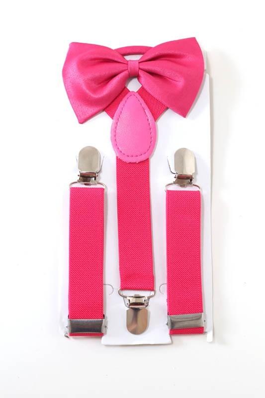 kit suspensório + gravata borboleta infantil rosa pink. Carregando zoom. d61b969be6e