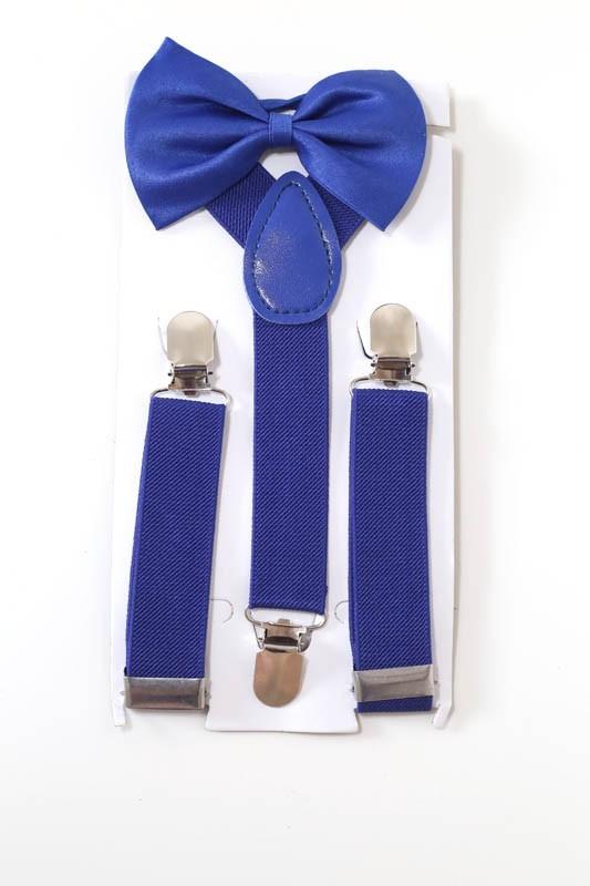f78616995 kit suspensório + gravata borboleta pajem criança azul royal. Carregando  zoom.