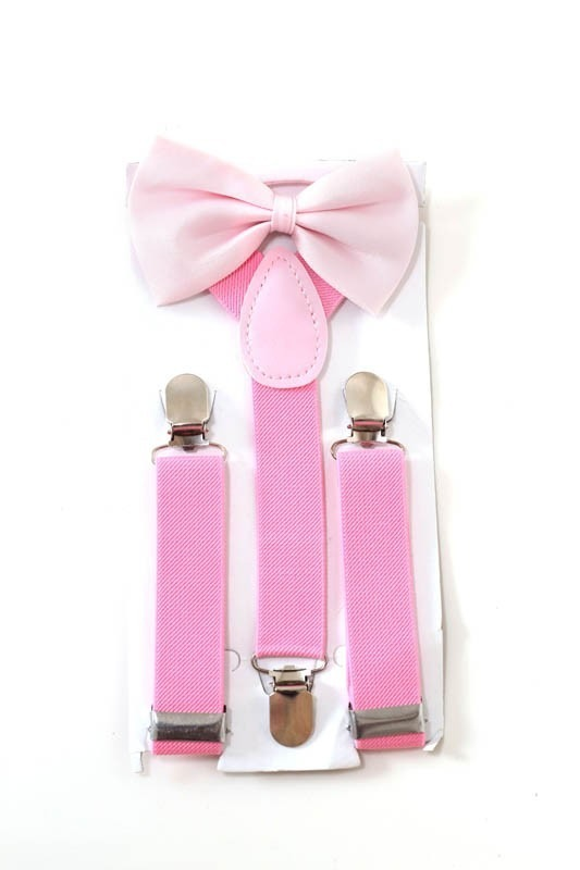kit suspensório infantil + gravata borboleta rosa bebê. Carregando zoom. 4a011cf97ad
