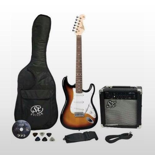 kit sx rock!  sx stratocaster + ampli sx 10w + accesorios