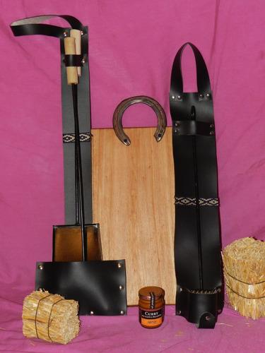 kit tabla asado picadas madera accesorios asador parrilla **