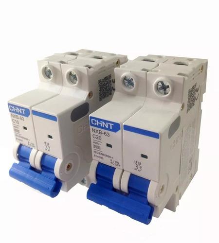 kit tablero electrico 2 termicas 10/25a disyuntor 25a chnt