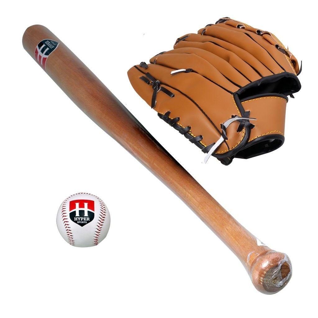 605e2c4f3 kit taco de baseball hyper sports madeira 1 bola 1 luva. Carregando zoom.
