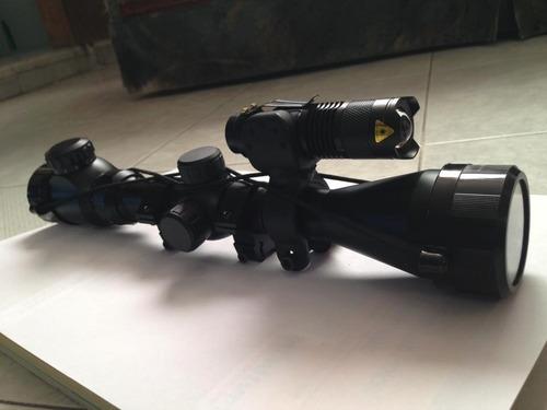 kit tactico p/ equipar mira telescopica , rifle o escopeta