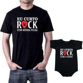 73d97849e8d9 Camiseta Preta Rock Pai Filho Mãe - Calçados, Roupas e Bolsas com o  Melhores Preços no Mercado Livre Brasil
