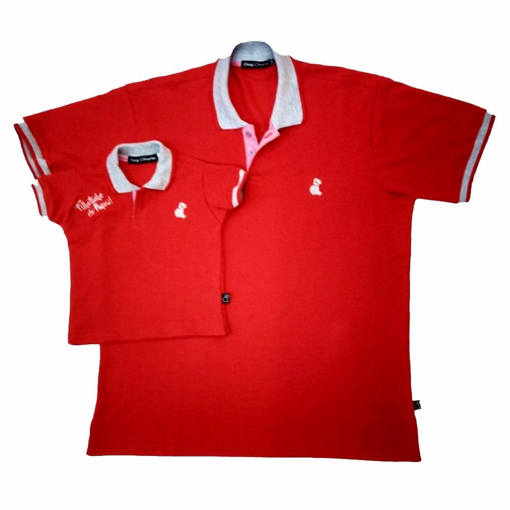 222ae0f8e2004f Kit Tal Pai Tal Filho Camisetas Polos Presente De Natal