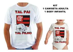 4295db760cb25c Kit Tal Pai Tal Filho Futebol Camiseta + Body Bory Bodies