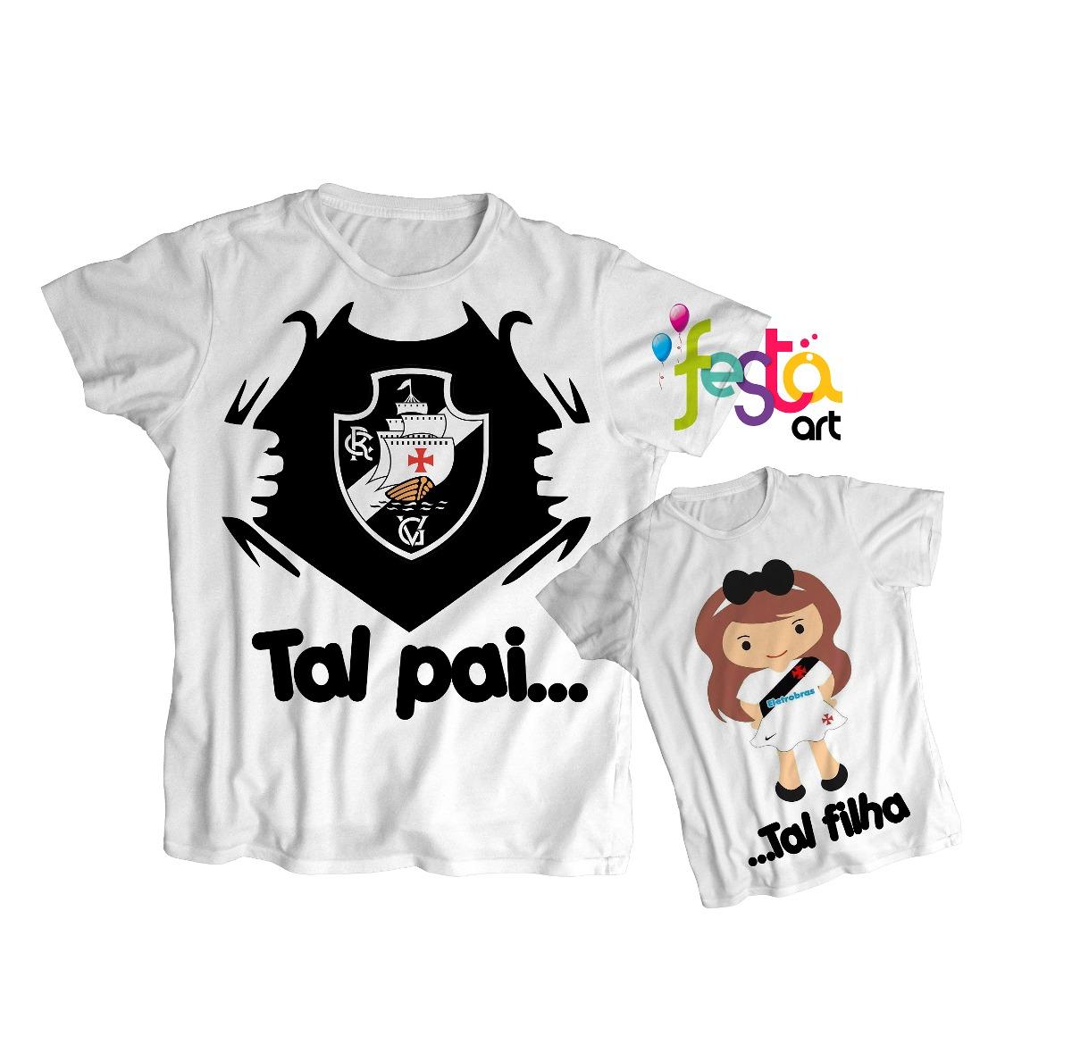 a48cff2690 Kit Tal Pai Tal Filho Palmeiras Qualquer Time 2 Camisetas - R  59