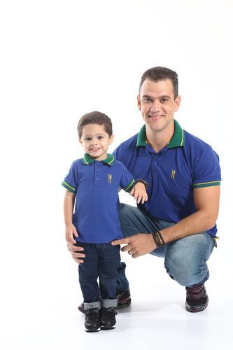 kit tal pai tal filho polos brasil
