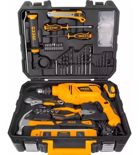 kit taladro 850w  + herramientas valija ingco