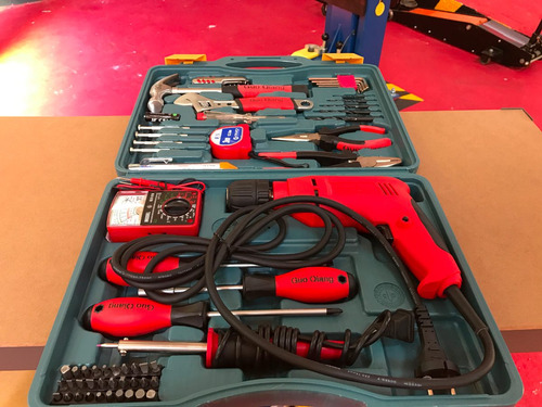 kit taladro eléctrico 60 piezas