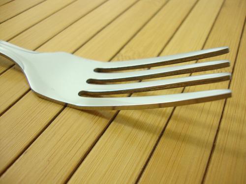 kit talheres em aço inox 6 garfos + 6 facas de mesa catuai