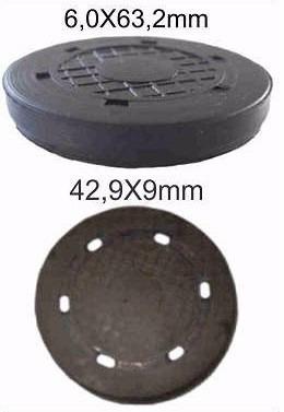 kit tampão selo correia cab renault medidas 63,2mm e 42,5mm