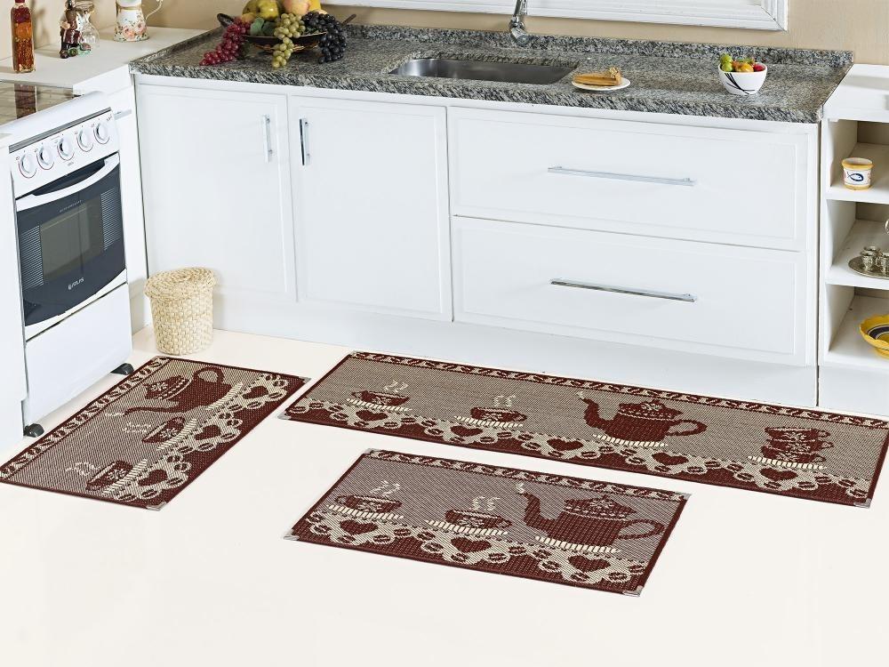 61bb5c980 Kit Tapete Cozinha Sisal 3 Peças Antiderrapante - 2 Kits - R  180
