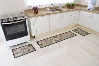 09c6702b8 Kit Tapete Cozinha Sisal 3 Peças Rayza Coruja - R  119