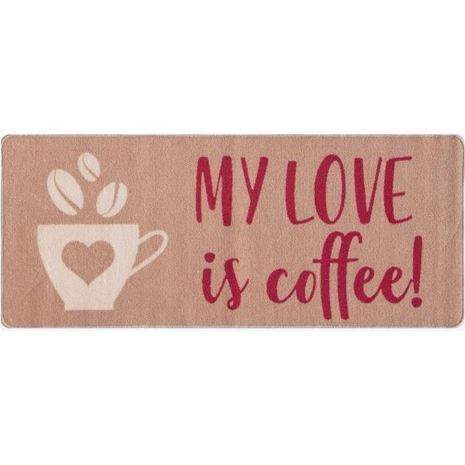c74db038a Kit Tapete Para Cozinha 3 Pç Gourmet Love Coffe Marrom - R  149
