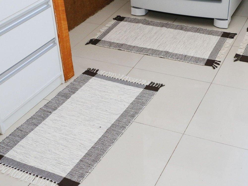 305714e47 kit tapetes para cozinha 3 peças em tear manual - fio grosso. Carregando  zoom.