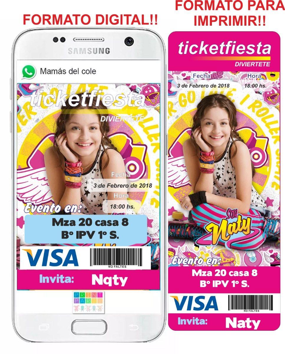 Kit Tarjeta Invitación Soy Luna Virtual Whats App O Imprimir