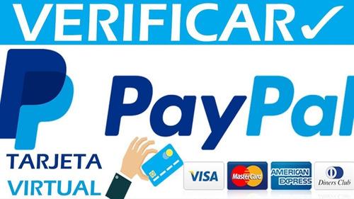kit tarjeta virtual verificar pay pal 15 (verds 3 años)
