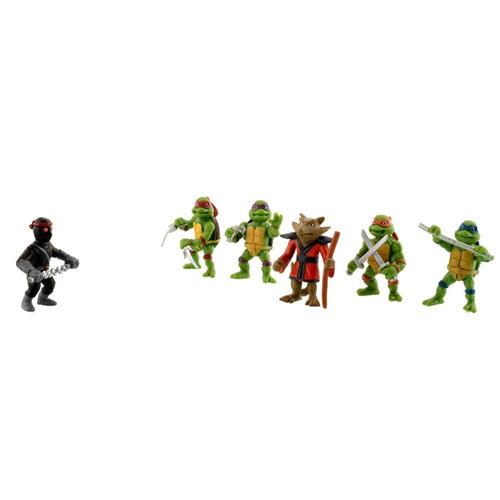 kit tartarugas ninjas 6 bonecos miniaturas coleção tmnt raro