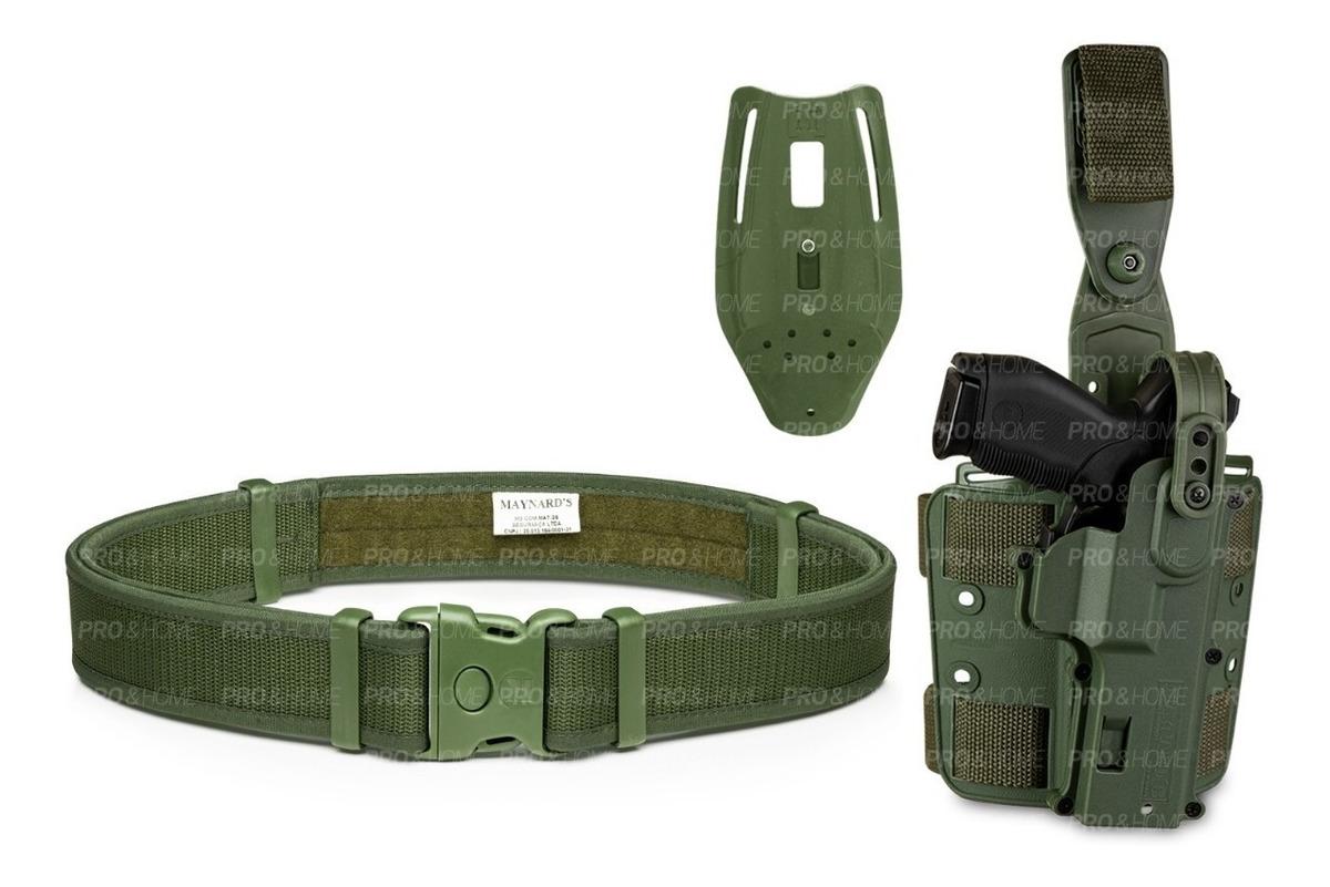 negozi popolari colori armoniosi qualità stabile Kit Tático Maynards C/ 3 Pçs Coldre Robocop + Cintura Verde