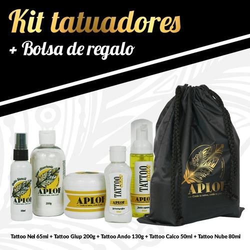 kit tatuadores aplof stencil+espumoso+quita stencil+bálsamo